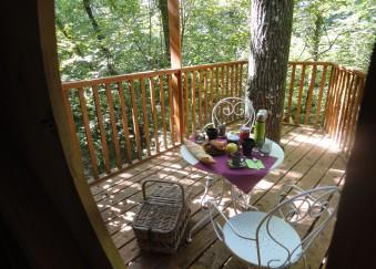 petit déjeuner cabanes arbres