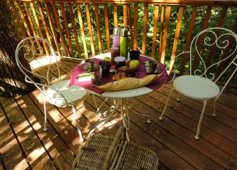 petit déjeuner cabanes arbres charentes