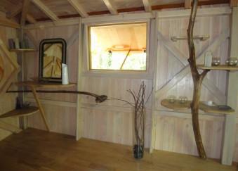 intérieur cabane arbres