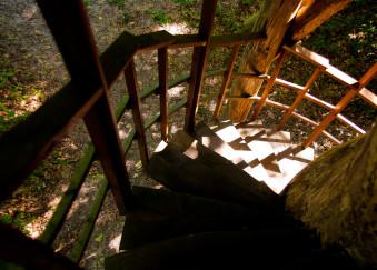 escalier cabane